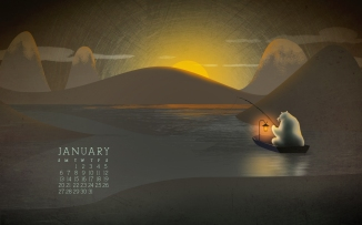 Desktop Calendar January