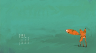 Desktop Calendar June 2013 Fox